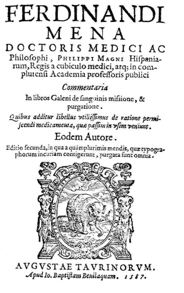 Fernando de Mena, médico de Felipe II